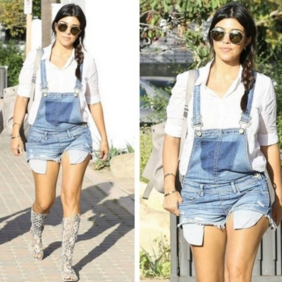 BlankNYC Denim Overall Shorts Bunch of Fives